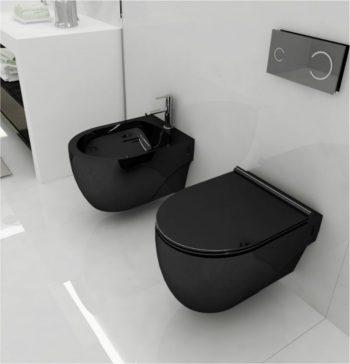 Sanitários pretos smile bath